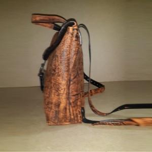 Рюкзак №4 ручной работы из натуральной кожи