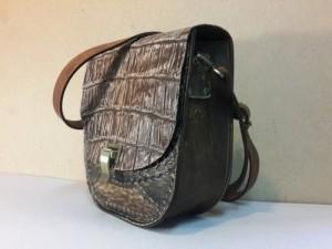 Авторская женская сумка №003 из крокодиловой кожи