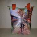 Женская сумка №154 из мягкой натуральной кожи с росписью