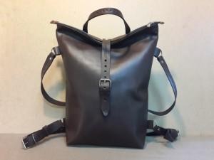 Рюкзак №5 ручной работы из натуральной кожи