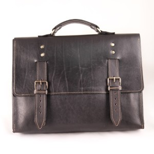 Стильный кожаный мужской портфель ручной работы №016