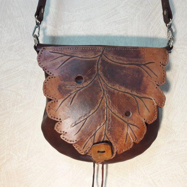 """Женская сумка №313 """"Кленовый лист"""" из натуральной кожи"""