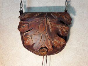 """Женская сумка №314 """"Кленовый лист"""" из натуральной кожи"""