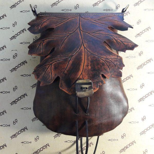 """Женская сумка №315 """"Кленовый лист"""" из натуральной кожи"""
