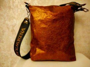 Женская сумка №157 из мягкой натуральной кожи, с росписью