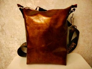Женская сумка №164 из мягкой натуральной кожи, с росписью